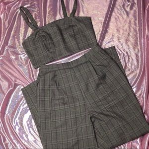 Other - PLAID TWO PIECE SET